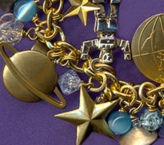 Beam Me Up Scotty - A Space Age Charm Bracelet by Karen Meer -MADAME Whimsey OOAK