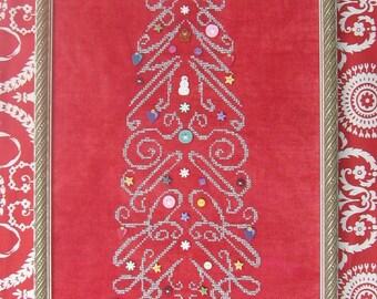 M Designs Christmas Tree Cross Stitch Chart - Instant Downloadable PDF