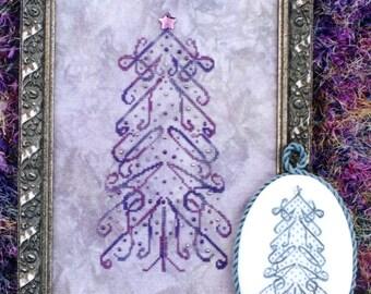 M Designs FAITH Tree Cross Stitch Chart - Instant Downloadable PDF