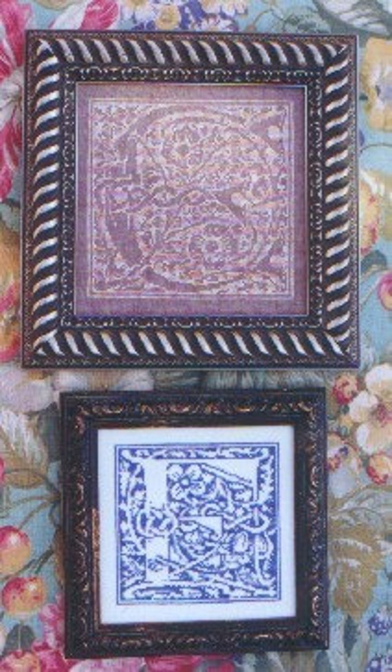 M Designs Alphabet Series Letters E and F Cross Stitch Chart