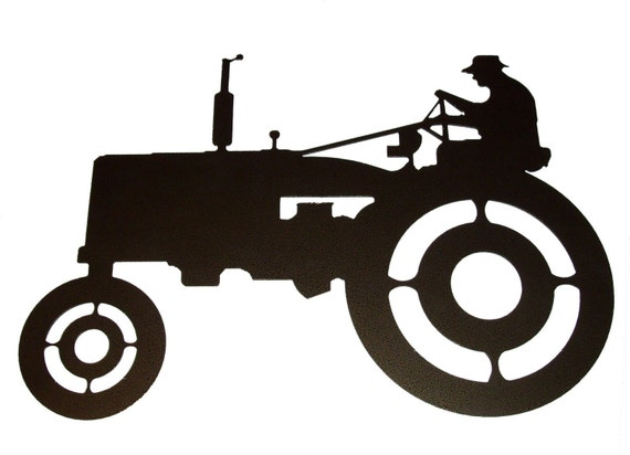 Metal Art Tractor : Tractor metal wall art a
