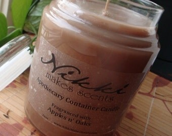 APPLES N OAKS - 26oz Apothecary Jar Candle