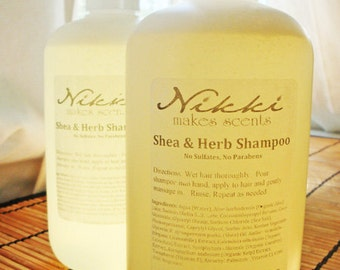 PSYCHEDELIC DREAMS - Shea and Herb Shampoo, No Parabens or Sulfates