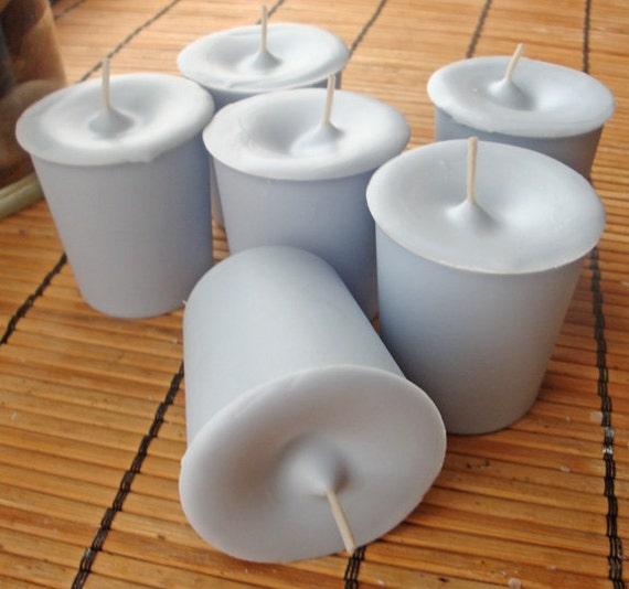 WATERFALL MIST -  Round  Votive Candle 6pk