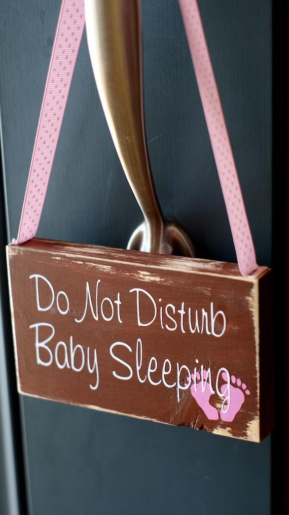 Baby Sleeping Do Not Disturb sign, door hanger