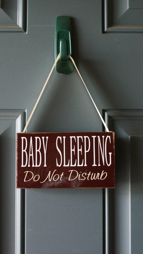 Baby Sleeping Do Not Disturb wood sign - door hanger
