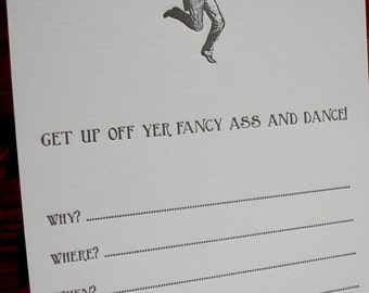 Dance Party invitations - set of 10