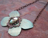 Bejeweled Lunar Butterfly Necklace