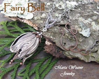 Tulip Fairy Bell Necklace Bestseller, Marta Weaver Jewelry, Choose Custom Length, 24 hr shipping weekdays