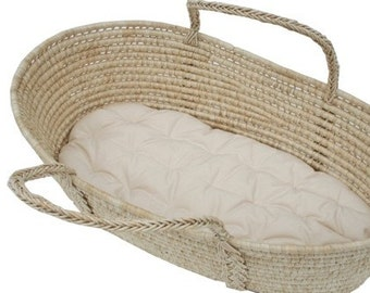 Futon Only for Moses basket - 100% Organic Cotton - choose your size