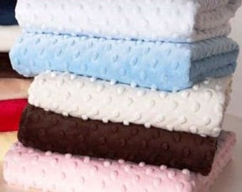 2 Moses Basket Sheets - Super Soft Minky dot - choose your color