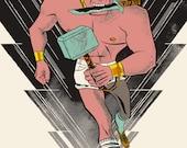 Brock, by Odin, Screenprinted Art Print