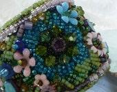 Sale- beaded Cuff Bracelet: Bloomin' Riot