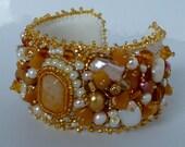 Beaded Cuff Bracelet- SALE 50% OFF