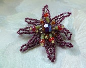 Beaded Brooch- Crazy Anemone SALE! 50% OFF!