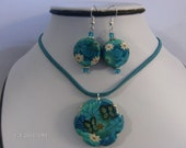Tropical Island Necklace and Earring Set