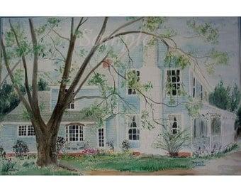 Watercolor Paintings of Homes