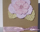 Just Because Violets handmade card
