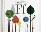 Ff is for Forest Alphabet Print by Modernpop