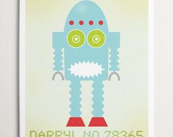 Darryl No 78365, Modern Robot Art by ModernPOP