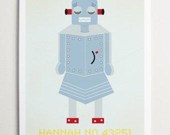 Hannah No 43251, Robot Art Print by ModernPOP