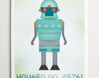 Howard No 25761, Robot Wall Art by ModernPOP
