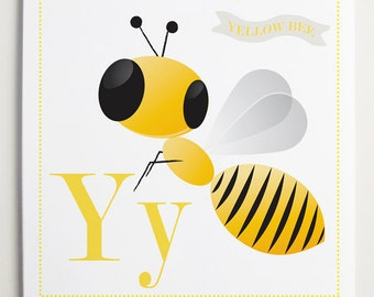 Yy is for Yellow Alphabet Print by Modernpop