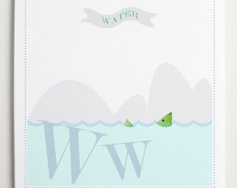 Ww is for WaterAlphabet Print by Modernpop