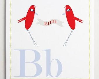 Bb is for BIRD Alphabet Print by Modernpop