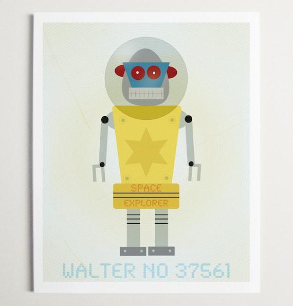 Walter No. 37561, Robot Print by ModernPOP
