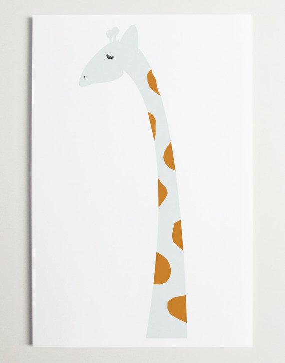 Modern Giraffe Print by ModernPOP - giraffe nursery - giraffe art - art for baby room - playroom decor