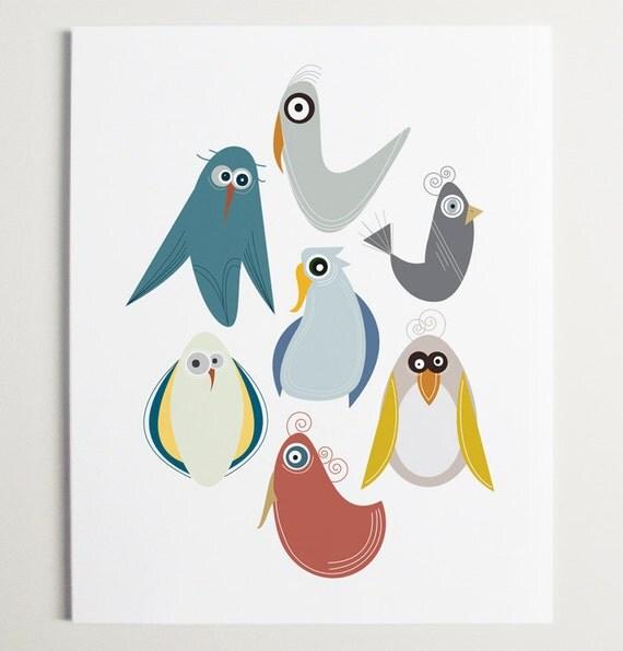 Bird is the Word Wall Art by ModernPOP