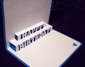 Happy Birthday Pop-Up Card Item 8057 Blue