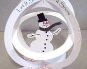 ornament Printable Snowman Pop-Up Card Globe Let It Snow -DESIGN NO. 7831 Merry Christmas