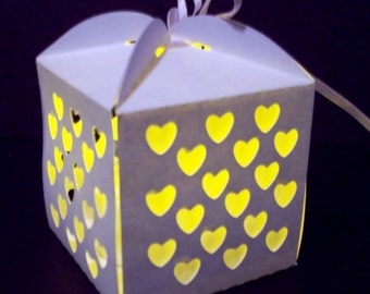 Favor Box HEARTS Digital pattern -Item 8053 -Papercut Made in USA