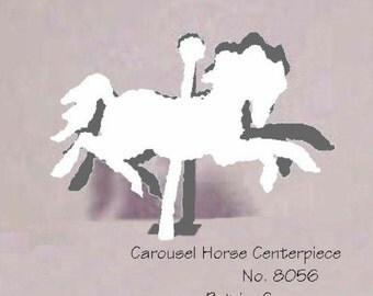 "Carousel Horse Centerpiece DIGITAL XL 8"" high  DIY item 8056XL"