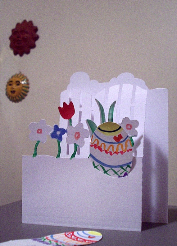 hidden message easter card easter pop up tri fold card with secret inspirational 4662
