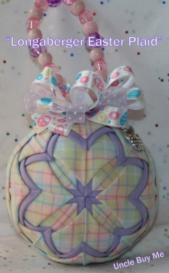 Quilted Ornaments Quilt Ball Ornament Longaberger Easter Plaid