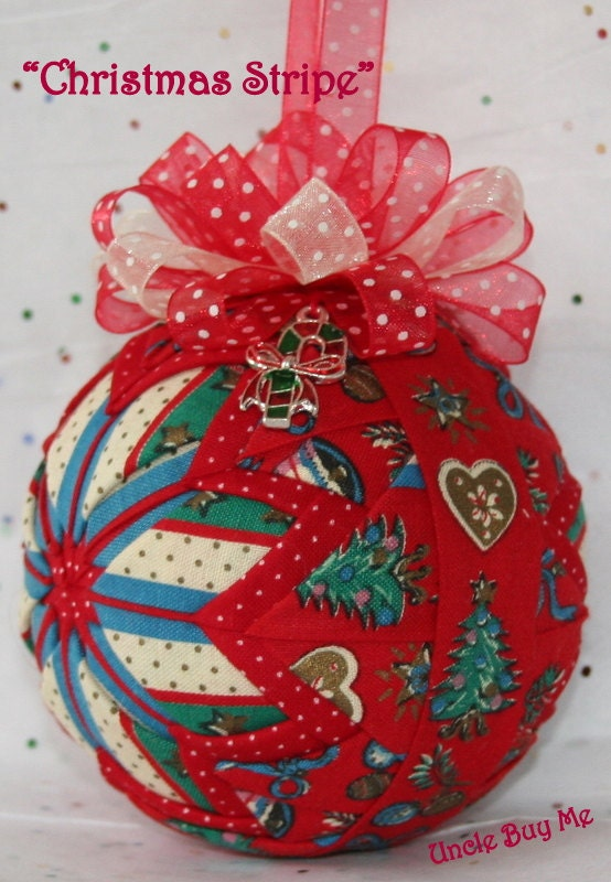 Christmas Tree Ornaments Quilted : Quilted ornaments quilt ball christmas by unclebuyme