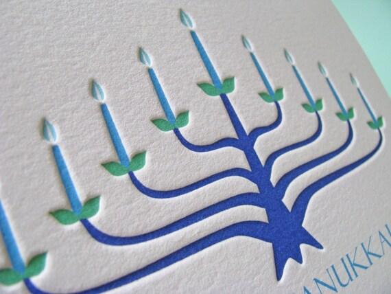 Menorah Happy Hanukkah Card