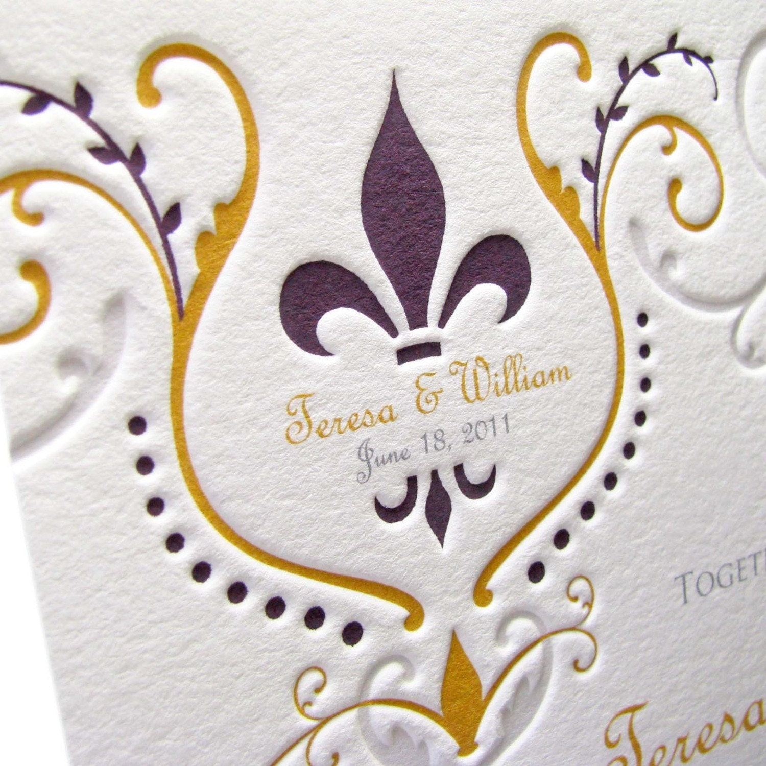 Fleur De Lis Wedding Invitations can inspire you to create best invitation template