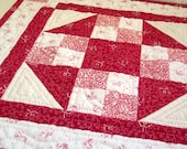 Be Mine Red and White Cottage Style Small Quilt