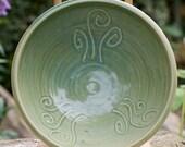 Fern Fiddlehead Green Forest Bowl by Bunny Safari