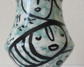 RESERVED for Sher - Funky Little Scalloped Vase