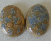 Ceramic Cabochon Beads Jewelry Making Set of Two