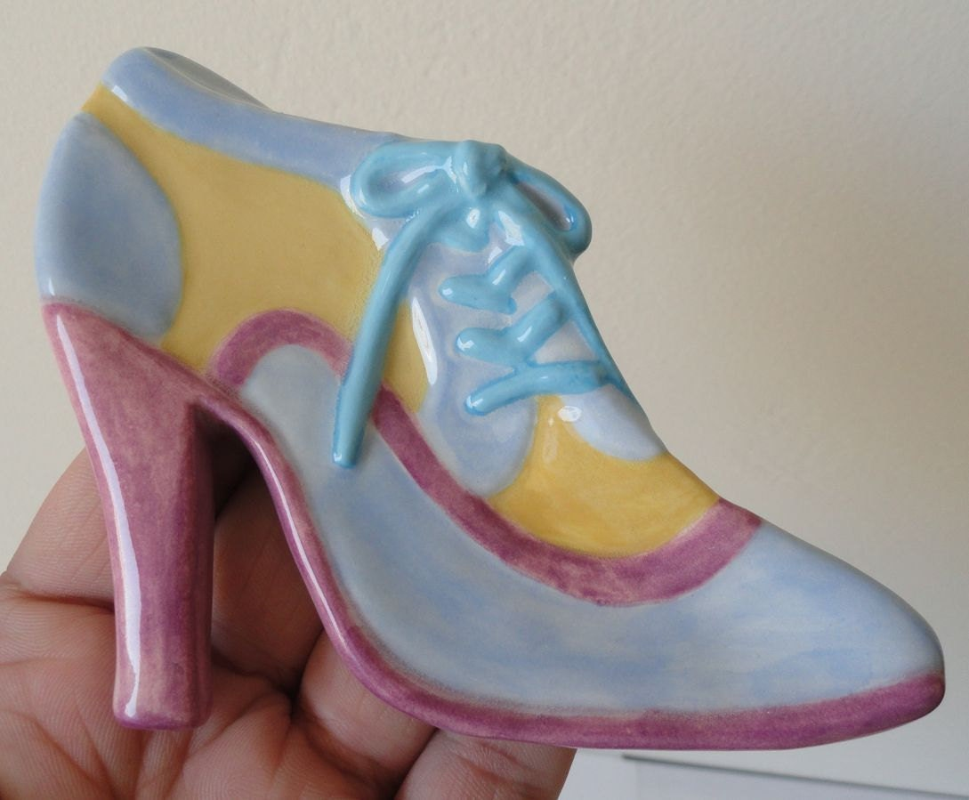ceramic dish high heel boot shoe by 4craftsisters