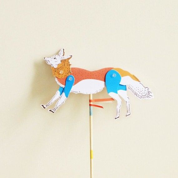 DIY Paper Puppet - FOX