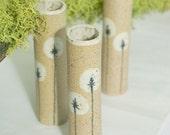 white dandelion mini bud wall vase