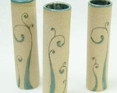reserve listing for susiedoozie - 3 fiddlehead bud wall vases