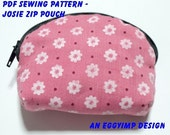 Instant Download PDF Pattern - JOSIE Zip Pouch PDF Sewing Pattern - A4-size Paper Format